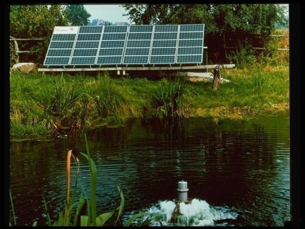 Brushless DC pump solar energy application